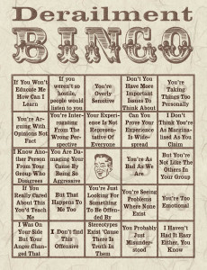 not all men derailment bingo